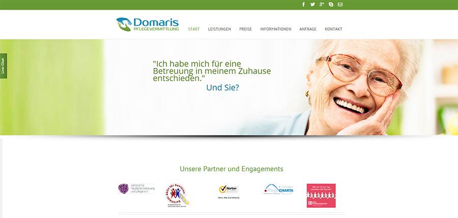 Domaris Pflegevermittlung