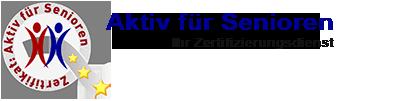 Aktiv für Senioren Ihr Servicelabel für mehr Qualität Logo