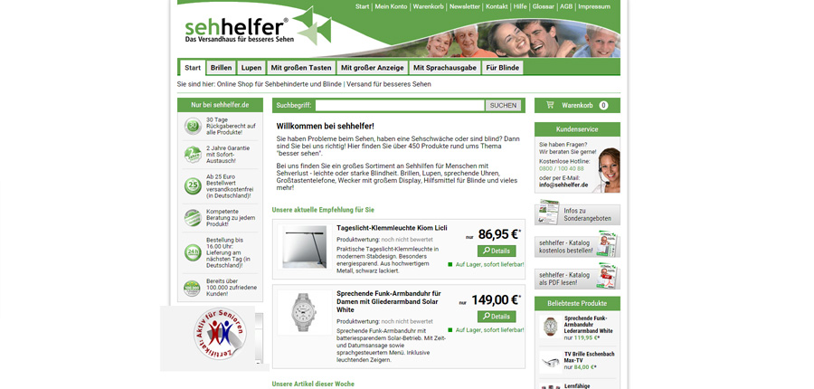 Sehhelfer Online-Shop