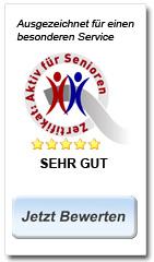Aktiv für Senioren Ausgezeichnet für einen besonderen Service